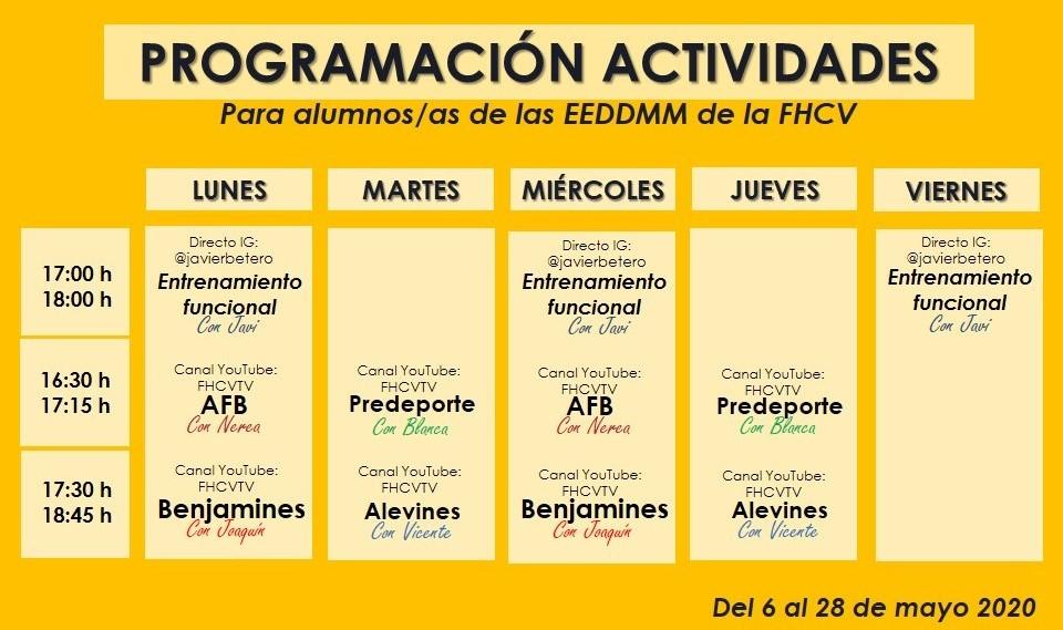 ACTIVIDADES ALUMNOS EEDDMM FHCV