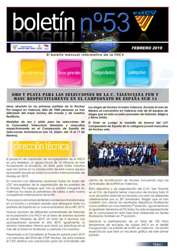 Boletín Febrero 2019