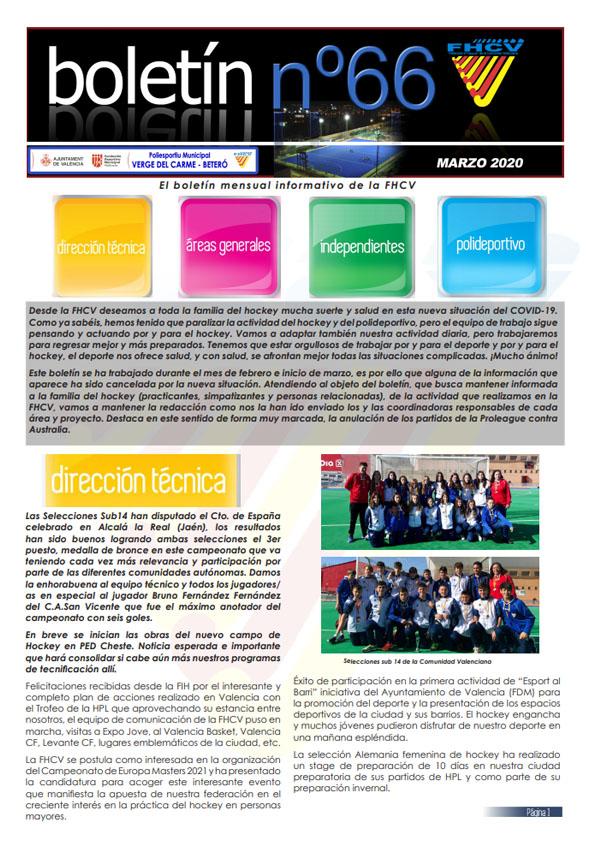 Boletín Marzo 2020