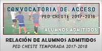 RELACIÓN ALUMNOS ADMITIDOS PED CHESTE CURSO ESCOLAR 2017-2018