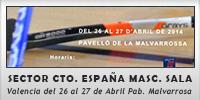 Fase sector campeonato de España masculino hockey sala (Valencia del 26 al 27 de Abril Pabellón de la Malvarrosa)