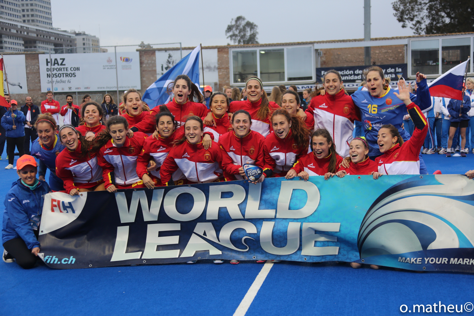 Las Redsticks, campeonas de la Valencia Hockey World League