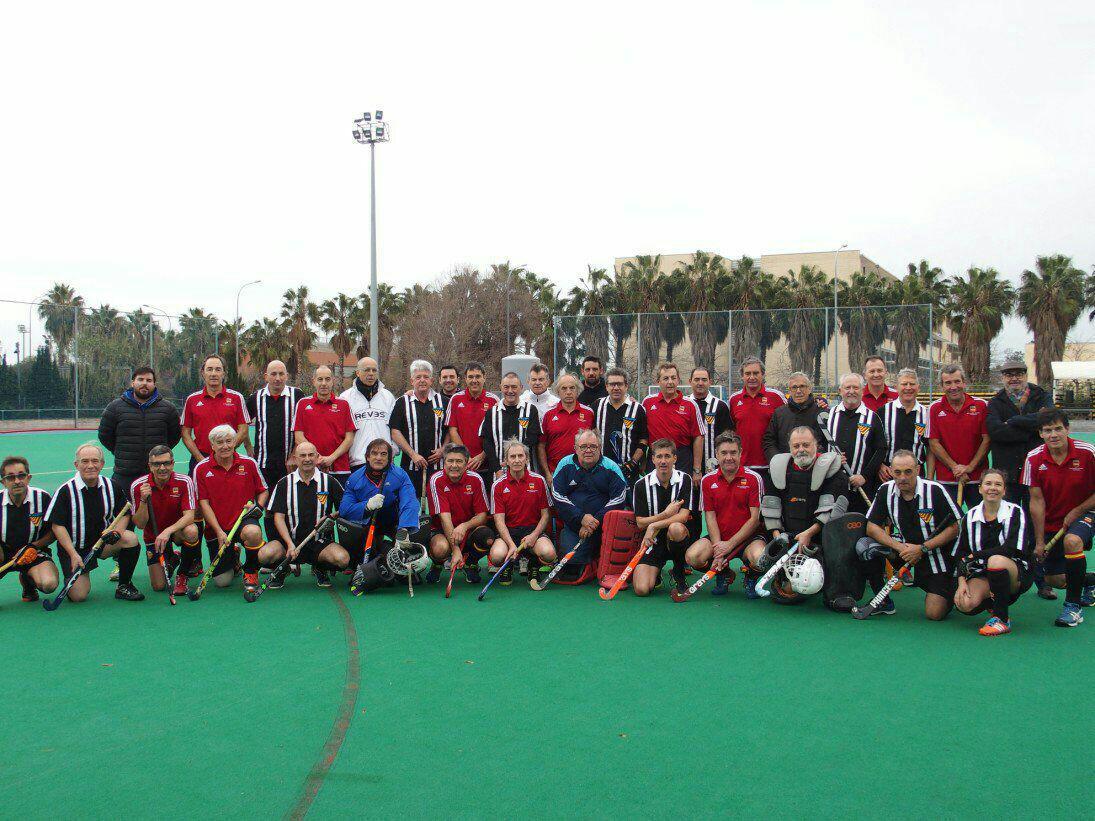 Los veteranos de la FHCV y la Selección Española +60 se miden en Valencia